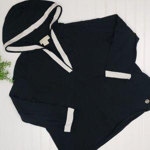 Michael Kors Black White Hooded Sweater 2X